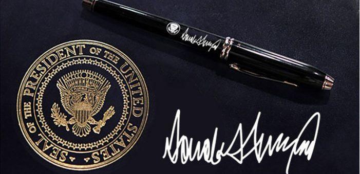 Trump la firma